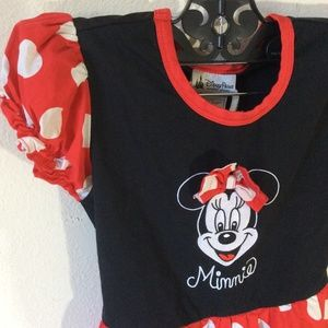 Disney Dresses - Minnie Mouse Polka Dot Dress Girl's Small Disney